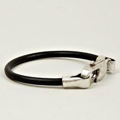 Maison Martin Margiela 11 Brass & Leather Bracelet