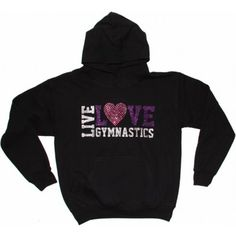 Live, Love, Gymnastics Sweatshirt