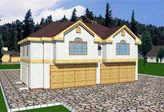 Garage Plan 86895 - 4 Car Garage Apartment Plan with 1075 Sq Ft, 3 Bed, 2 Bath Garage Apartment Plans, Garage Apartments, Garage Plans, Garage Ideas, Apartment Ideas, Barn Plans, Bedroom Apartment, Yard Ideas, Apartment Therapy