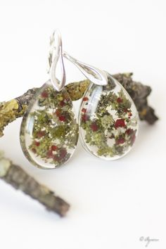 Botanical earrings - Agnera handmade earrings Buy here…