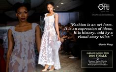 #Fashion is an art form. It is an expression of ideas. It is history.. told by a visual story teller.  #fashionweek  https://www.oaklandfashionweek.org/home