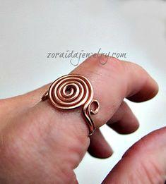 DIY Wire Spiral Ring