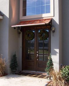 Concave Copper Door Awning - The Concave Gallery - CANNON COPPER AWNINGS - Copper Awning - Metal Awning for Doors & Windows - Shipped in USA