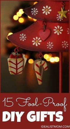 15 Fool-Proof DIY Christmas Gifts #Christmas #Christmas Holidays #Cfristmas Gift #DIY #Crafts