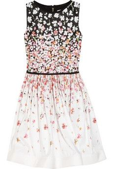 Red Valentino | Floral-print satin-twill dress | NET-A-PORTER.COM - StyleSays
