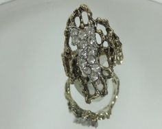 Impressionist Ring Huge Wide Filigree Ring by VINTAGEARTJEWELRY, $28.00