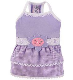 Lilac Pet Dress- Perfect Summer Dog Clothes