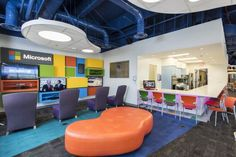 Room To Grow At Texas Children's Hospital | Healthcare Design --- Bright-colored furniture and flooring, fun-shaped ceiling elements, and an open layout were used to update the Child Life Zone at Texas Children's Hospital. Credit: Photo by Kramer