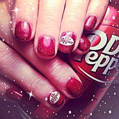Dr. Pepper | Nail Art Get Nails, Hair And Nails, Soda Brands, Vintage Recipes, Vintage Food, Dr Pepper, Cute Nail Designs, Beauty Nails, Hair Beauty