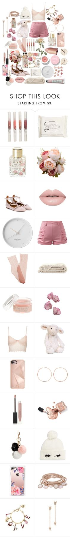 """""""Roses are Red... and Pink<3"""" by catty-girl ❤ liked on Polyvore featuring Stila, H&M, Lollia, Valentino, Korres, Georg Jensen, Brother Vellies, J.Crew, Sweet Pea by Stacy Frati and Topshop"""