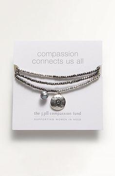 Compassion Fund medallion wrap bracelet