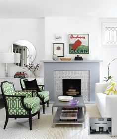 Love the simplicity of this fireplace