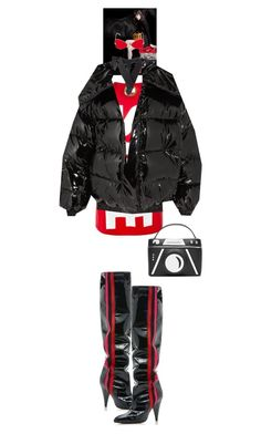 """Donatella #9467"" by canlui ❤ liked on Polyvore featuring Mark Cross, Vetements, RetroSuperFuture, Alchimia Di Ballin, Karl Lagerfeld, jacket, coat, coats and puffercoats"