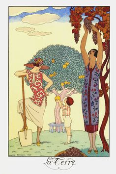 Fleeting Fancies & Hardcore Love • bassington: La Terre, George Barbier.