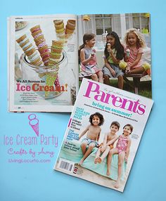 Ice Cream Party Ideas {Parents Magazine Feature} LivingLocurto.com