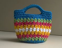 Cluster Stitch Bag Crochet Tutorial - Idea's for hat  pattern by bobwilson123