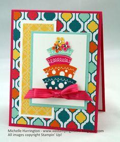 STARS Thursday Challenge - Sketch Pad DSC - Topsy Turvey - Happy Birthday - SU! - Stampin' Up! - Michelle Harrington - www.xostampingstudio.blogspot.com