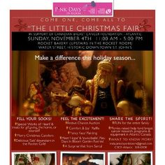 "Poster for Pink Days In Bloom ""The Little Christmas Fair"""