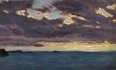 Arthur Hughes - From Pentire Point. c. 1909