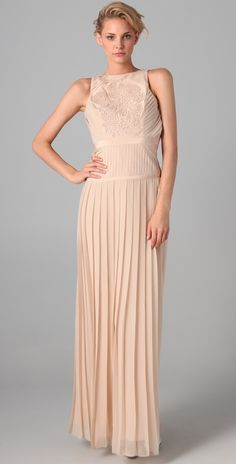 Tibi Pleated Gown