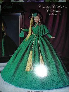 """11.1/2 Barbie  Crochet Pattern """"Scarlett"""" Gone With The WIND"""