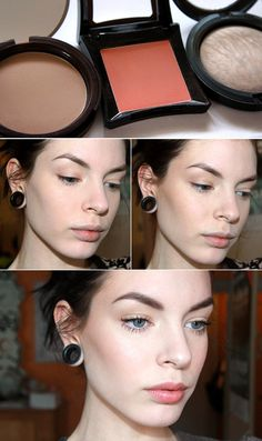 Learn how and where to apply shimmery highlighter. | 22 Beauty Tutorials For Dramatic Holiday Looks
