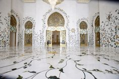 Sheikh Zayed Grand Mosque  Abu Dhabi, United Arab Emirates  ~~~    Churches, Synagogues, Mosques and Temples with Amazing Architecture : Architectural Digest
