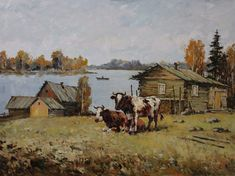 In the pasture. Decorating Your Home, Oil, Canvas, Painting, Ideas, Tela, Painting Art, Canvases, Paintings