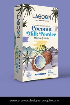 The overall package maintains the tropical feel associated with the product element coconut—watercolour textures used as visuals creating a consistency in the overall package. The colours used are better, representing the attributes of the products. The white background of the paper box is allowing the lighter pastel shades to get highlighted. #foodpackaging #packagingdesign #foodpackagingdesign #foodpackagingideas #packqagingideas