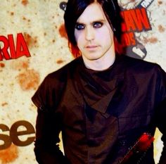 Jared you look ethereal here! Very goth babe!