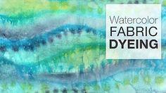ice dye tie dye with liquid - YouTube