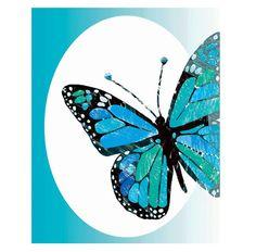 blue butterflies / turquoise blue / modern art print / 8x10 /  kids wall art for nursery / original wall art print