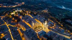 Christmas time in Montepulciano (SI). Aerial photo by Max Morriconi.
