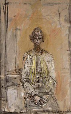 Alberto Giacometti- Portrait of Annette, 1954.