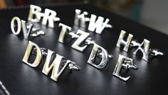 Letters Cufflinks/ Letter Cufflinks/ Initials Cufflinks/ Initials, Cufflinks, Letters, Trending Outfits, Unique Jewelry, Handmade Gifts, Accessories, Etsy, Kid Craft Gifts