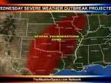 Severe Weather potential persisting for Wednesday though Halloween from the Great Lakes through the OH/MS/TN Valleys into the Central and Southern Plains.  Damaging Winds in excess of 70 mph likely in thunderstorms, sustained winds will be from 30 gusting to 50 mph, hail up to 2.5 inches in diameter, few tornadoes possible, torrential rainfall from 2 up to 5 inches locally leading to serious flash flooding.  Stay with NOAA Weather Radio and be on alert for the next 48 to 72 hours.