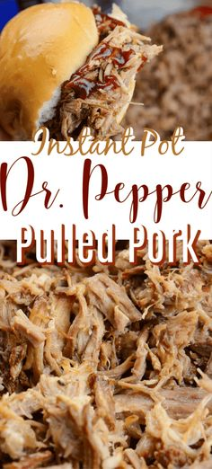 pulledpork instantpot drpepper instant pepper pulled pork pot dr Instant Pot Dr Pepper Pulled PorkYou can find Instant pot recipes and more on our website Crock Pot Recipes, Cooking Recipes, Crock Pots, Healthy Recipes, Best Instant Pot Recipe, Instant Pot Dinner Recipes, Pulled Pork Recipe Instant Pot, Instant Pot Pressure Cooker, Pressure Cooker Recipes