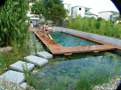 BioNova Natural Swimming Pool in Germany Piscina Natural BioNova na Alemanha Swimming Pool Pond, Natural Swimming Ponds, Natural Pond, Swimming Pool Designs, Pool Sand, Ponds Backyard, Backyard Landscaping, Natural Landscaping, Backyard Ideas