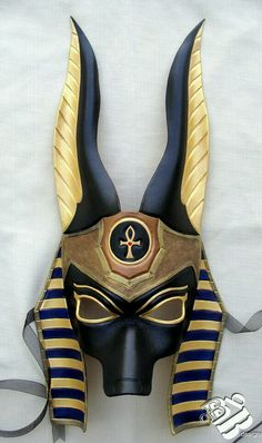 Jackal Anubis Leather Mask by on Etsy.Egyptian Jackal Anubis Leather Mask by on Etsy. Egyptian Mask, Egyptian Costume, Anubis Costume, Egyptian Anubis, Egyptian Makeup, Egyptian Fashion, Tiki Maske, Masquerade Costumes, Ancient Egypt