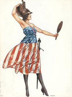 Lady Liberty: The Goddess of Democracy American Spirit, American Pride, American History, American Girl, Vintage Posters, Vintage Art, Patriotic Pictures, Patriotic Dresses, Strip