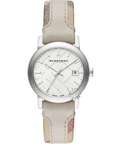 BURBERRY The City Check Beige Leather Strip On Fabric Strap Μοντέλο: BU9132 Η τιμή μας: 419€ http://www.oroloi.gr/product_info.php?products_id=41520