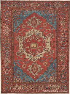 This is an Antique century Persian x Serapi Oriental Collectible Blue Rug. Persian Carpet, Persian Rug, Asian Rugs, Rug Company, Patterned Carpet, Modern Carpet, Rugs On Carpet, Hall Carpet, Red Carpet