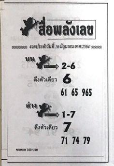 เลขทีเด็ดแม่นจัด หวยสื่อพลังเลข งวดวันที่ 16/6/64 ... หวยเด็ดๆ เข้าทุกงวด เจาะเลขเด็ดหวยสื่อพลังเลข หวยเด็ดที่สุดในโลกงวดนี้อัพเดตแล้ว