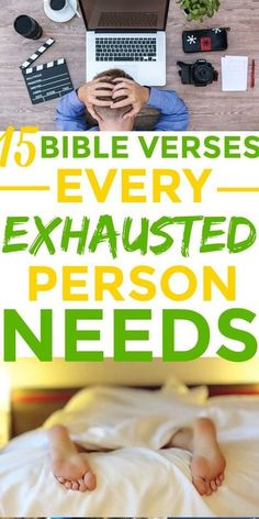 Totally LOVED these GREAT 15 Bible verses for the exhausted person! I'm SO glad I found these AMAZING 15 Bible verses for when I'm EXHAUSTED! Definitely pinning! Bible verses | Bible verses about rest | Exhaustion #Bibleverses #Scriptures