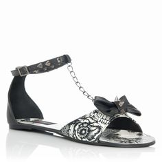 Shotgun Flat by Iron Fist. Yes, those are studs around the ankle and on the bow. Cute Shoes Flats, Shoes Online, Pumps Heels, Ankle Strap, Heeled Mules, Shoe Boots, Shotgun, Iron Fist, Sandals