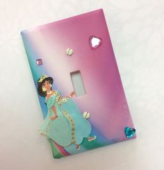Disney Princess Jasmine Light Switch Cover. Handmade Light Switch Cover with Princess Jasmine. Perfect give for any occassion or A perfect gift