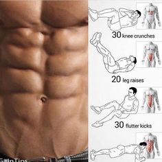 No-Equipment Ab Exercises - Body Sixpack Workout Plan Best Abs - Yeah We Train ! Fitness Workouts, Fitness Motivation, Abs Workout Routines, Weight Training Workouts, Fun Workouts, At Home Workouts, Fitness Tips, Quotes Motivation, Sixpack Workout