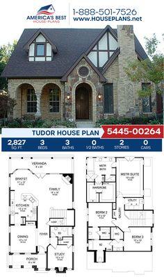 Sims House Plans, Dream House Plans, House Floor Plans, The Plan, How To Plan, Tudor House, Small Modern House Plans, Unique House Plans, Modern Architecture House