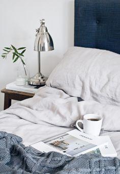 Linen bedding from Soak & Sleep | These Four Walls blog