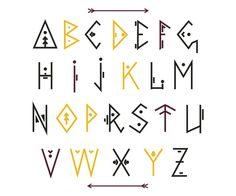 Fonts Alphabet Discover Vector Ethnic Font by GingerArt on Bullet Journal Font, Journal Fonts, Letras Cool, Creative Market Fonts, Typographie Fonts, Mexican Fonts, Schrift Design, Hand Lettering Alphabet, Alphabet Design